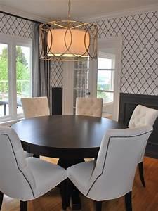 Trellis Wallpaper Dining Room