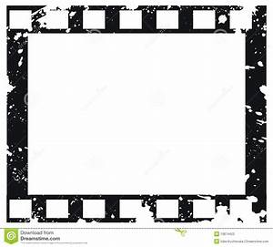 Old Vector Film Frame In Grunge Style Stock Vector Image