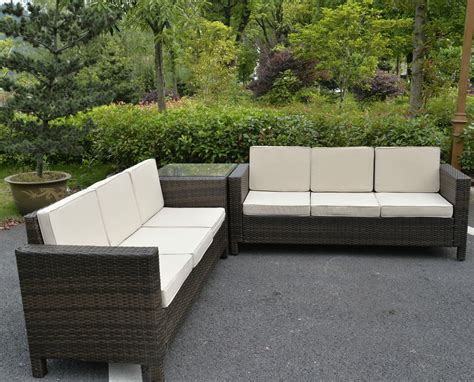 rattan garden furniture set sofa conservatory outdoor