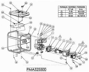 Powermate Formerly Coleman Pma525500 Parts Diagram For