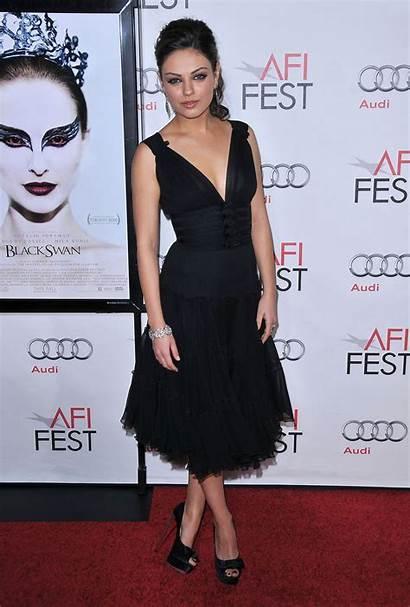 Mila Kunis Party Cocktail Dresses Neck Portman