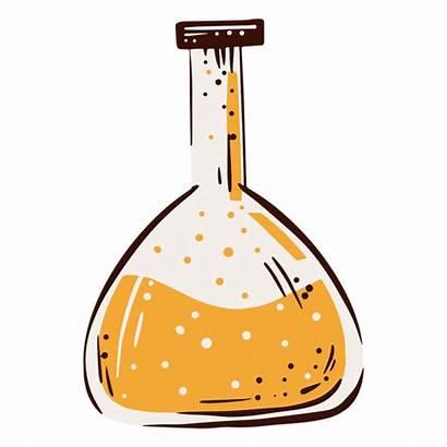 Erlenmeyer Flask Matraz Laboratorio Lab Drawn Elemento