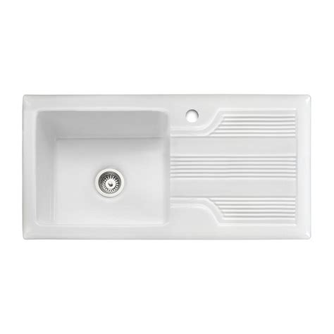 kitchen sinks portland rangemaster portland 1 0 ceramic sink sinks taps 3044