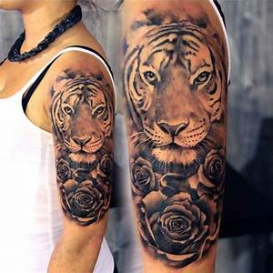 Rosen Tattoo Klein : 1001 ultra coole tiger tattoo ideen zur inspiration ~ Frokenaadalensverden.com Haus und Dekorationen