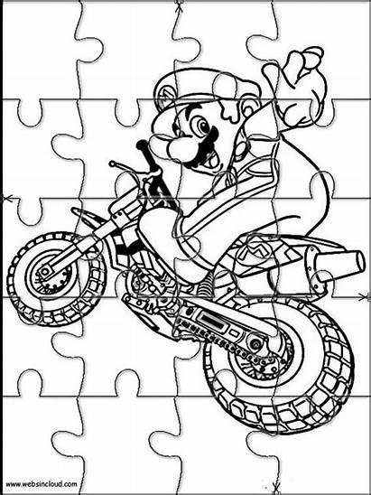Puzzles Mario Printable Bros Cut Jigsaw Coloring