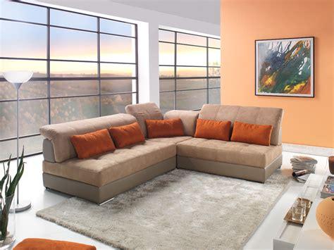 modèle canapé canapé d 39 angle modulable cuir et tissu modèle edy