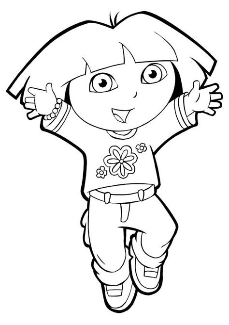 dora coloring pages sheets pictures