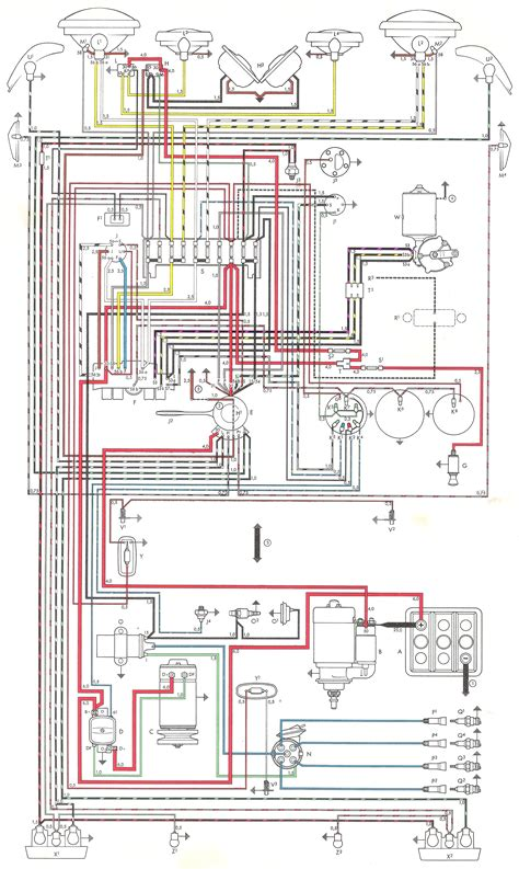 1965 vw beetle wiring diagram 29 wiring diagram images