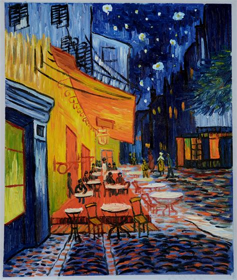 gogh cafe terrace at cafe terrace at reproduction paintings