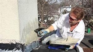 Repair chimney stucco over new flashing - YouTube  Flashing