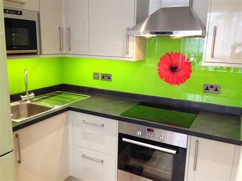 lime green splashback kitchen glass splashbacks 7110