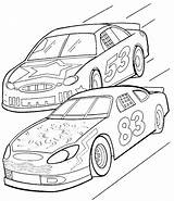 Coloring Pages Cars Street Race sketch template