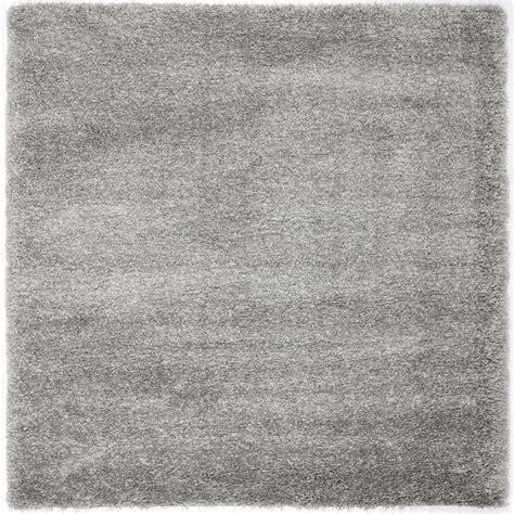 silver area rug safavieh california shag silver 4 ft x 4 ft square area