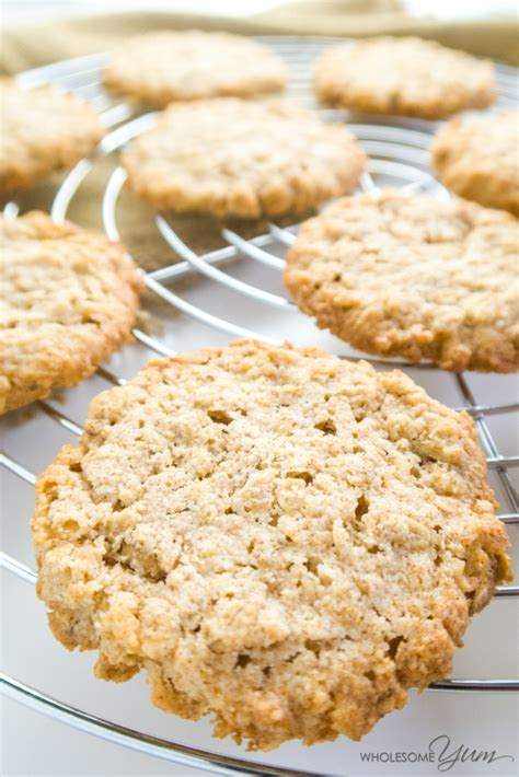 There is a full recipe card below. Sugar-free Oatmeal Cookies (Low Carb, Gluten-free)