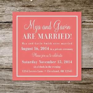 amazing wedding reception invitation wording already With wedding invitation wording if you are already married
