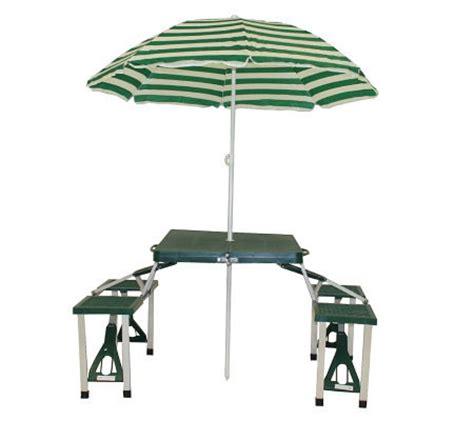 folding picnic table with umbrella texsport folding picnic table with umbrella qvc com