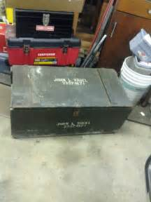 Army Military Wood Foot Locker