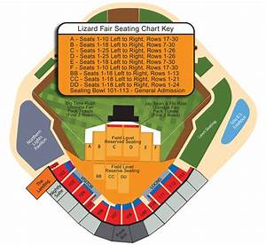 Brewers Stadium Seating Chart Lizard Fair 2011 Seating Chart Great Lakes Loons Dow Diamond