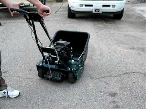 craftsman  blade reel mower  hp engine youtube