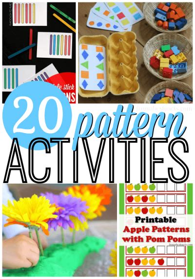 awesome pattern activities  preschoolers  abcs