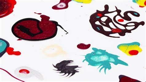 Nail Polish (varnish) Mixed Multicolor Blots Rotating Over