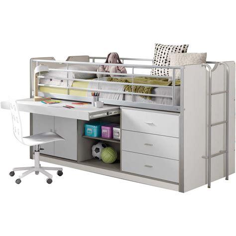 lit mi hauteur avec bureau soldes lit mi hauteur combiné 90x200 cm avec bureau