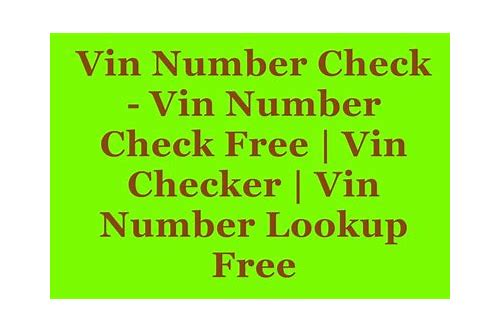 How To Check A Vin Number Free >> Vin Number Decoder Free Download Scovadrapep