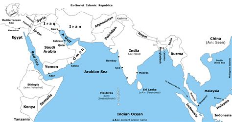 map  indian ocean region