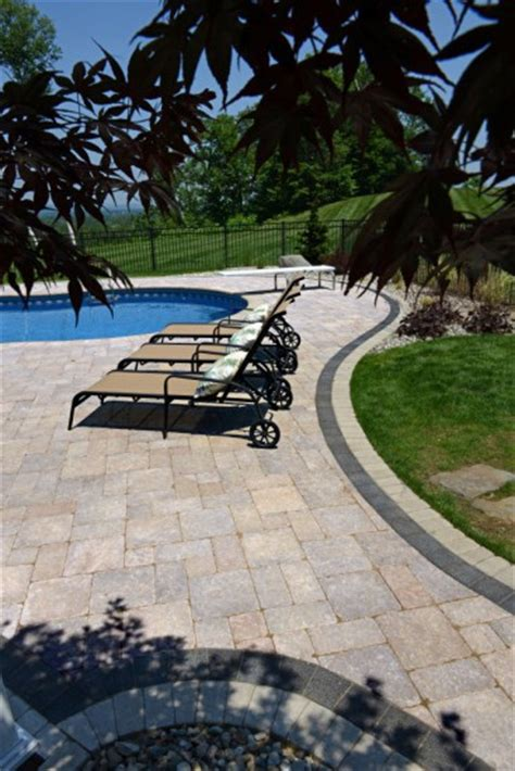 unilock series 3000 unilock pool deck with stonehenge paver and series 3000