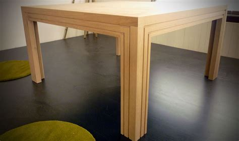 table en bois carree table carr 233 e en ch 234 ne naturel atelier bois cr 233 ation beno 238 t lapasset