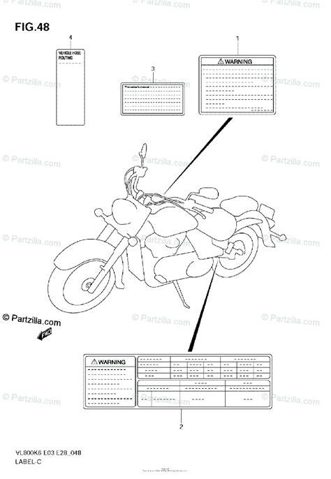 suzuki motorcycle  oem parts diagram  label