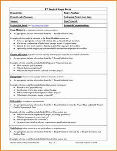 sample scope document template - template project scope template