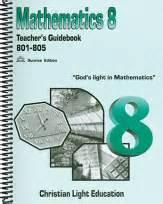 christian light math christian light publications math grade 8