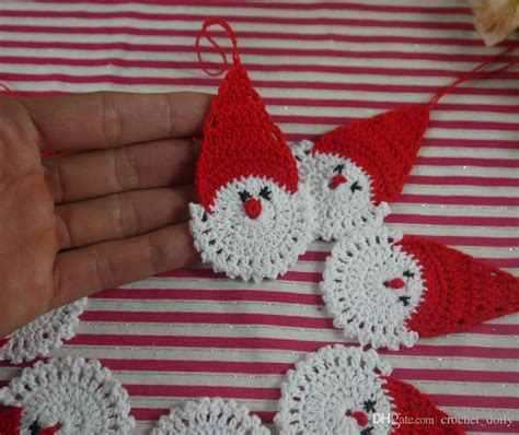 crochet santa claus christmas decorations hanging