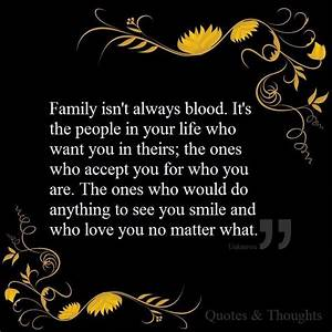 Family isn't ... Family Blood Quotes