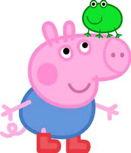 Peppa Pig Artwork by George Pig With A Frog By Rockint765 On Deviantart