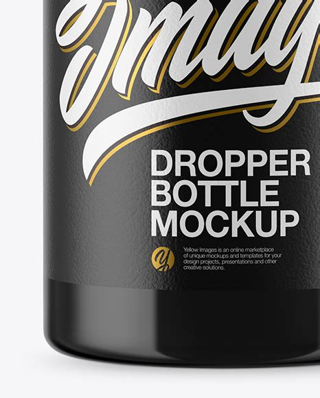 Free shipping on your first order shipped by amazon. Glossy Dropper Bottle Mockup in Bottle Mockups on Yellow ...