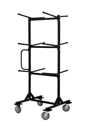 mity lite folding chair cart mitylite half tree cart folding chairs black