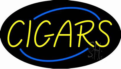 Neon Cigars Yellow Animated Signs Enlarge