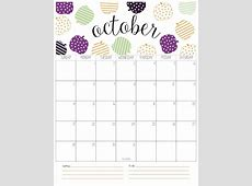 2018 Calendar Bright October vitafitguide