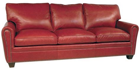 Leather Loveseat With Nailhead Trim by Leather Pillow Back Loveseat W Rolled Wedge Arms