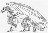Wings Coloring Fire Hybrid Dragonet Dragon Pngkey Characters Theseacroft Coloringnori sketch template