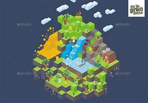 Isometric Game Assets - Down The Mountain by DeLaGranSiete