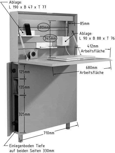 FLATMATE Sekretär | Folding desk, Home office design