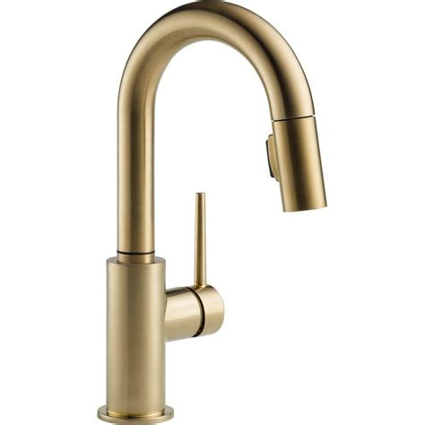 Bar Faucet Single by Delta Trinsic Single Handle Pull Sprayer Bar Faucet