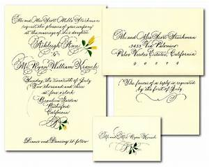 wedding calligraphy custom wedding invitations and With wedding invitation return card wording