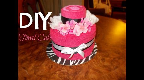 diy towel cake youtube