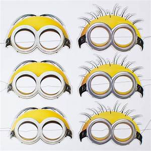 minion face masks pack of 6 only gbp229 With minion mask template