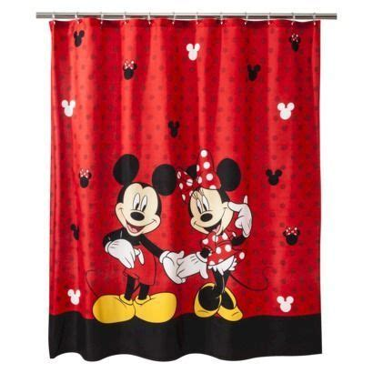 mickey and minnie mouse disney fabric shower curtain kids