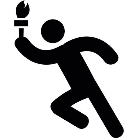 le torche telecharger gratuit homme qui court avec la torche olympique t 233 l 233 charger icons gratuitement
